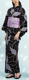 浴衣(ゆかたyukata) 源氏物語浴衣(ゆかた) 麻と綿の布 手縫い仕立て付き 19005 麻30%・綿70% (染色方法・注染) (仕立て無しの反物のみも可) [送料無料]