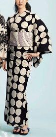 浴衣(ゆかたyukata) 源氏物語浴衣(ゆかた) 麻と綿の布 手縫い仕立て付き 19009 麻30%・綿70% (染色方法・注染) (仕立て無しの反物のみも可) [送料無料]