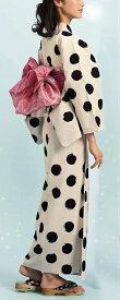 浴衣(ゆかたyukata) 源氏物語浴衣(ゆかた) 麻と綿の布 手縫い仕立て付き 19013 麻30%・綿70% (染色方法・注染) (仕立て無しの反物のみも可) [送料無料]