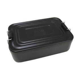 【合計5000円以上のご購入で送料無料】アルミランチボックス アルミニウム 弁当箱 お弁当男子 角型 ランチグッズ おしゃれ 無機質 アメリカン雑貨 アメカジ 懐かしい ブラック 工具箱 ROCCO AL Lunch Box (BK) 239-00090 キャッシュレス 還元