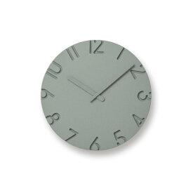 【合計3980円以上ご購入で送料無料】 時計 置き時計 掛け時計 雑貨 プレゼント インテリア デザイン オシャレ シンプル 可愛い カフェ リビング ダイニング 寝室 ベッドルーム CARVED COLORED NTL16-06 / グレー 239-00165 在宅勤務 テレワーク