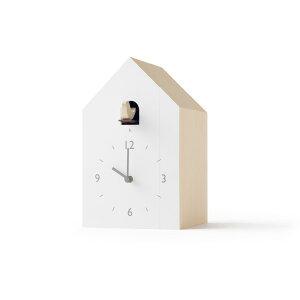【合計3980円以上ご購入で送料無料】置き時計 時計 白 ブックスタンド ブックエンド プレゼント 贈り物 ギフト 子ども キッズ オシャレ おしゃれ 鳩時計 可愛い 面白い デザイン Lemnos cuckoo-col