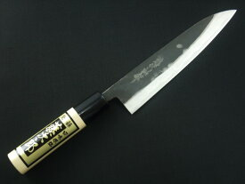 包丁 ペティナイフ 150mm 藤次郎 藤次郎作 安来鋼白紙2号 鍛造 黒打研出し 5寸 朴木柄 鋭い切れ味