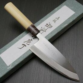 包丁 出刃 150mm 藤次郎 藤次郎作 安来鋼白紙2号 鍛造 5寸 朴木柄 プロの厨房からご家庭まで 噛み付くような切れ味