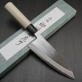 包丁 出刃 165mm 藤次郎 藤次郎作 安来鋼白紙2号 鍛造 朴木柄 プロの厨房からご家庭まで 噛み付くような切れ味