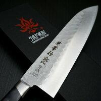 刃物の関市兼常作梨地槌目ステンレス青紙鋼2号割り込み三徳180mm包丁KC−921
