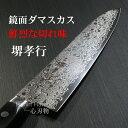 包丁 牛刀 210mm ダマスカス 45層 ミラー ステンレス 堺孝行 日本製