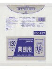 DKM94 0.03厚みゴミ袋 ダストカート120L 半透明 省資源 300枚【ごみ袋】【送料無料】