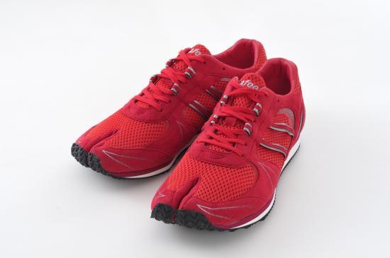 足袋型シューズ ラフィートジパング Lafeet Zipang(Red)【ウォーキングシューズ】【ジョギングシューズ】【足袋】【陸王 シューズ】【岡本製甲】ランニング