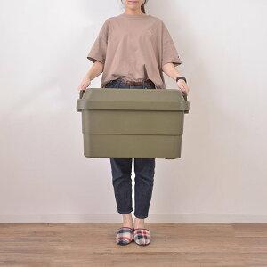 収納ボックス コンテナボックス 蓋付き おしゃれ 屋外 屋内 大型 大容量 50L フタ付き アウトドア ミリタリー 収納コンテナボックス