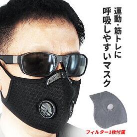 【送料無料】【入荷/即納】洗えるマスク 自転車 バイク サイクルマスク 交換フィルター 3枚付属 花粉症 ウイルス対策 ウィルス 風邪予防 PM2.5 黄砂 スポーツマスク エコ 繰り返し使える 大人用 黒 ROCKBROS(ロックブロス)