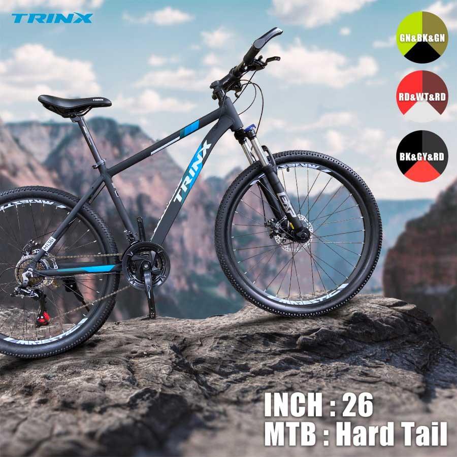 楽天スーパーSALE限定TRINX M136-18ダブルディスクSHIMANO21SPEED超軽量アルミAL6061マウンテンバイク26インチハードテール