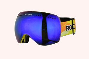 【送料無料】スノーゴーグル ケース付き ミラーレンズ 男女兼用 ROCKBROS(ロックブロス)【紫外線対策】メガネ