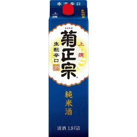 菊正宗 上撰 生もと純米 紙パック 1800ml×1本