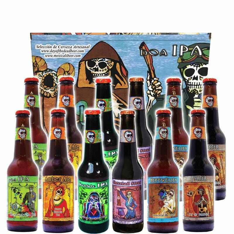 クラフトビール 飲み比べセット メキシコ デイ・オブ・ザ・デッド330ml×12本アソートセット