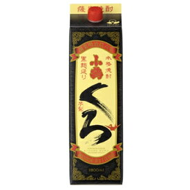 鹿児島県 小正醸造 さつま小鶴 くろ (パック) 芋焼酎 1.8L
