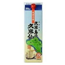 沖縄県 久米島の久米仙 25゜ 泡盛 1800ml×1本 紙パック