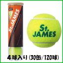 《送料無料》DUNLOP セントジェームス 4球入り (120球)(15缶×2箱) STJAMESE4DOZ ダンロップ 硬式テニスボール