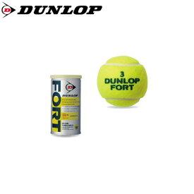DUNLOP フォート 2球入缶 DFDYL2DOZ ダンロップ 硬式 テニスボール