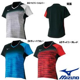 《送料無料》2018年8月発売 MIZUNO レディース ゲームシャツ 62JA8708 ミズノ テニス バドミントン ウェア