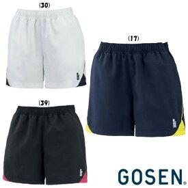 2019年12月下旬発売 GOSEN レディース ハーフパンツ PP2001 ゴーセン テニス バドミントン ウェア