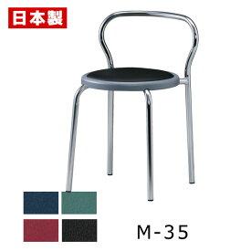 サンケイ M-35 スツール 背付 ビニールレザー張り