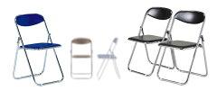 折りたたみ椅子CF107-MX_X6パイプ椅子スチール脚粉体塗装フラット収納ビニールシート張り【同色6脚セット】
