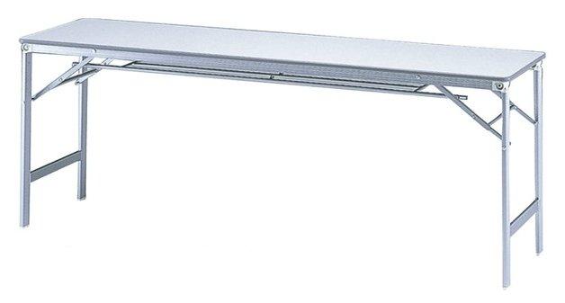 TM1845AK-CZ 長方形:幅180×奥行45×高さ70cm 折りたたみテーブル 会議テーブル アクリル塗装 アルミ脚 折りたたみ式