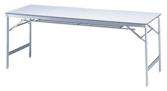 TM1860AK-CZ 長方形:幅180×奥行60×高さ70cm 折りたたみテーブル 会議テーブル アクリル塗装 アルミ脚 折りたたみ式