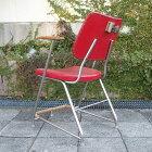 【北欧ビンテージ】 【デンマーク】 【中古】【展示店:大阪箕面】バーバーチェア barber chair チーク 美容院 美容室 椅子 レッド 赤 アームチェア 椅子 店舗