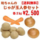 【送料無料】和ちゃんのじゃが玉人参セットじゃがいも2kg玉葱2kg人参2kg※沖縄・離島は別途送料がかかります。