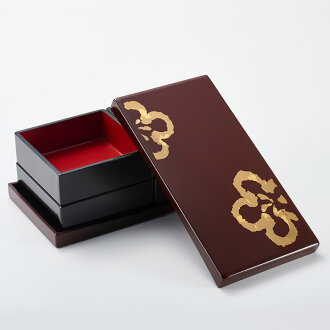 Gocoro hanami heavy gold plum [Kyoto lacquer ware Inoue Assistant Professor: modern, stylish, cute boxes (food) in the envelope (NABE) and athletic Bento (Lunchbox, a lunch box. Shokado Bento too. Wedding & memorial gift (wedding gifts), 内 祝 I (f