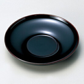 茶托 だるま 溜/黒 5枚セット 【送料無料】木製 漆塗り