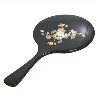 手鏡溜 | To the birthday present of the lacquering hand mirror woman (wife / mother / grandmother / women), a gift of the white day. Kyoto lacquerware