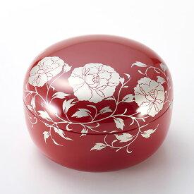 ボンボニエール 華唐草 朱(日本製)漆塗りのお菓子入れ(菓子鉢)結婚祝い、引き出物、内祝い、お祝いのお返し、外国人へのお土産に 京都 漆器