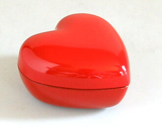 Heart BOX pickling Zhu < lacquer > lacquered wristlet accessory box passkeys Valentine white return marriage celebration gift