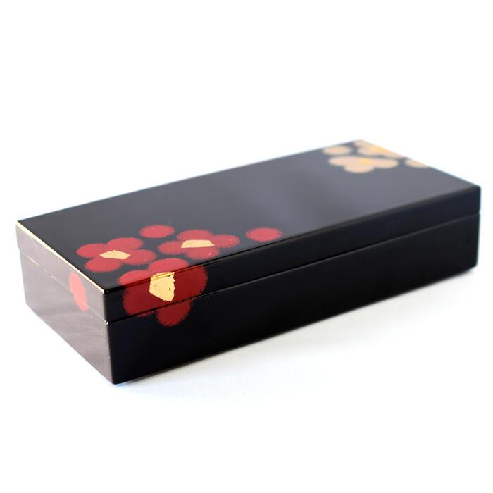 長手箱 紅白華 漆器の小物入れ ジュエリーボックス