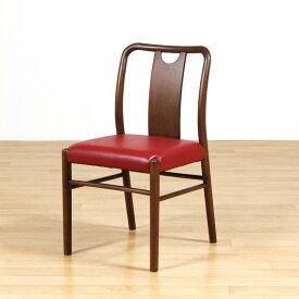 ダイニングチェア 食卓椅子 木製 軽量 肘無し コンパクト PVC レッド 合皮 レトロ シンプル カジュアル カフェ風 送料無料 Mach Chair