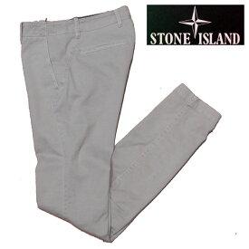 STONE ISLAND (ストーンアイランド)ストレッチコットン製 チノパンツブロークンツイル製 若干の使用感と立体感高品質で表面の風合いがとても良いですストーンアイランドシルエットが綺麗ですNO.67153CZLN