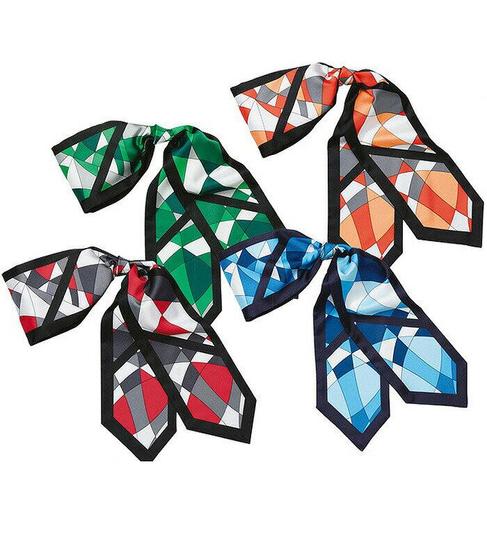 幾何学模様ロングスカーフ/事務服・企業制服・オフィスユニフォーム(レディース/オフィスユニフォーム/オフィス/会社)