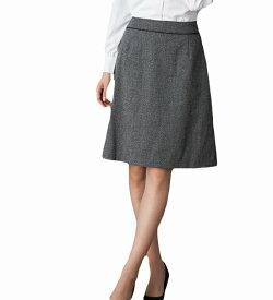 送料無料 Thermo Cool 温度差があっても心地いい!快適機能付きAラインスカート 事務服 企業制服 オフィスユニフォーム リクルートスーツ 通勤 入学式 卒業式にもおすすめ! ひざ丈 きれいめ