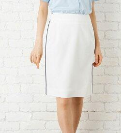 煌めく夏のホワイトタイトスカート 事務服 オフィス制服 Selery 2018SS ひざ丈 きれいめ