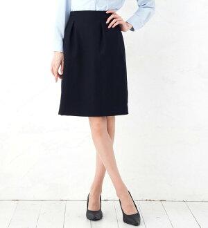 在高雅的美輪廓超伸展緊身裙(腰身橡膠)/工作服、企業制服、辦公室制服·募集西服、通勤、入學儀式、畢業典禮,也推薦! 膝長