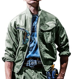 かっこいい作業服 かっこいい作業着・秋冬用メンズ バートル BURTLE 6051 長袖ブルゾン 3L 4L 5L対応