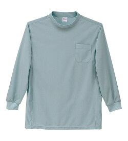 ハニカムメッシュ長袖ローネックシャツ