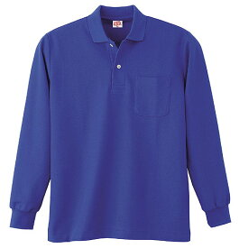 ●あす楽● 200 ヘビーウェイト長袖ポロシャツ(ポケット付)