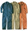 RV930 つなぎ服 綿100% メンズ つなぎ 綿 長袖 おしゃれ 青 ベージュ オレンジ 普段着 仕事着 ワークウエア ワークウ…