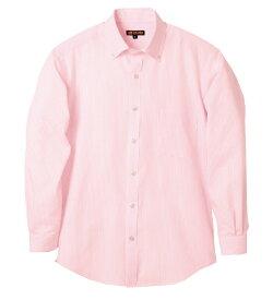 DVS581 長袖ドットラインボタンダウンシャツ(3L/4L/5L対応)【大きいサイズ対応】