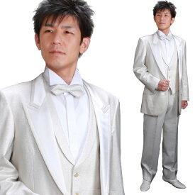 74652472cde9a  タキシード セット  シルバータキシード レンタル タキシード 白 レンタル 結婚式 スーツ 新郎