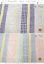 『Pastel dot stripe《パステルドットストライプ》』コットン100%Wガーゼプリント素材:コットン100% 生地幅:約108cm